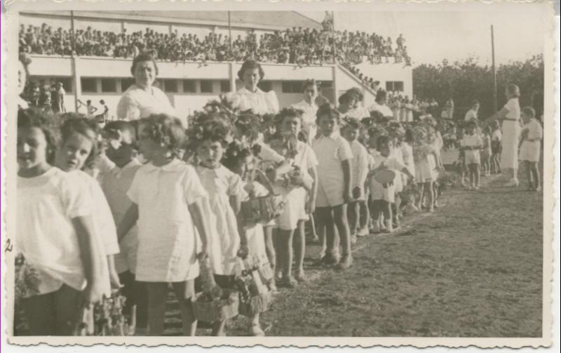 חגיגות הביכורים במגרש מכבי - ילדי הגנים, 1935