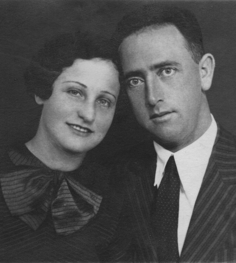 ברוריה ודוד כץ, 1935